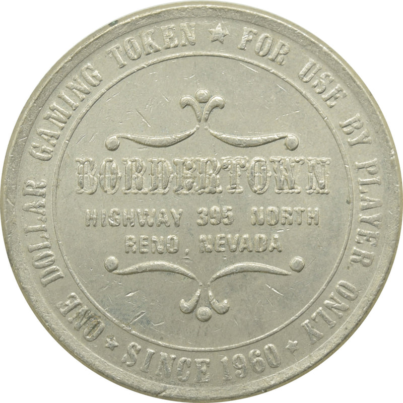Bordertown Casino Reno NV $1 Token 1984