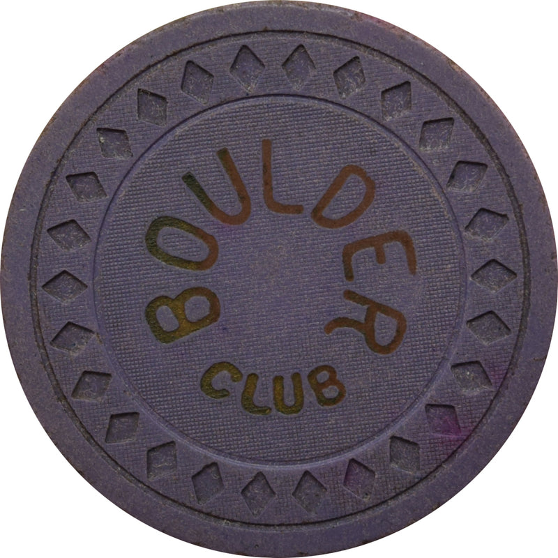 Boulder Club Las Vegas NV 25 Cent Chip 1930s