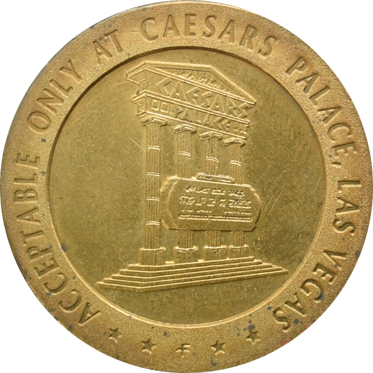 Caesars Palace Casino Las Vegas 50 Cent Gaming Token 1967