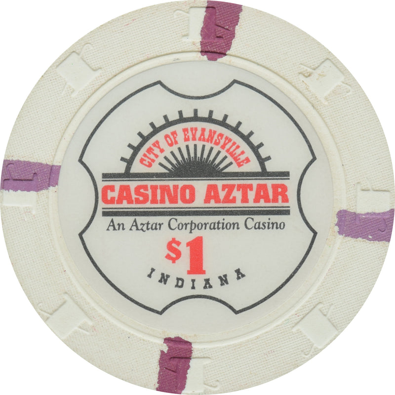Casino Aztar Evansville IN $1 Chip