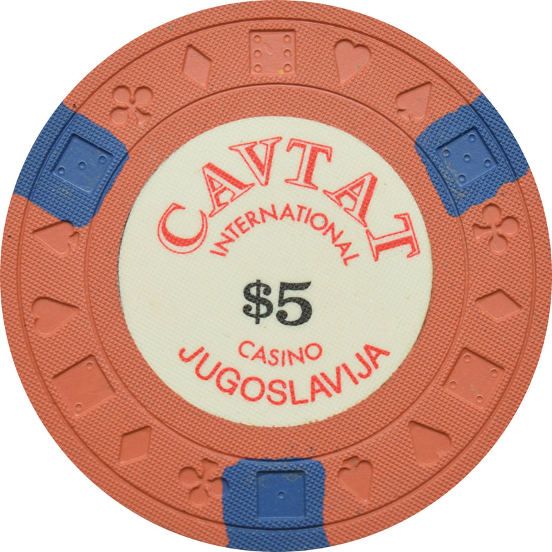 Cavtat International Casino Jugoslavija $5 Chip