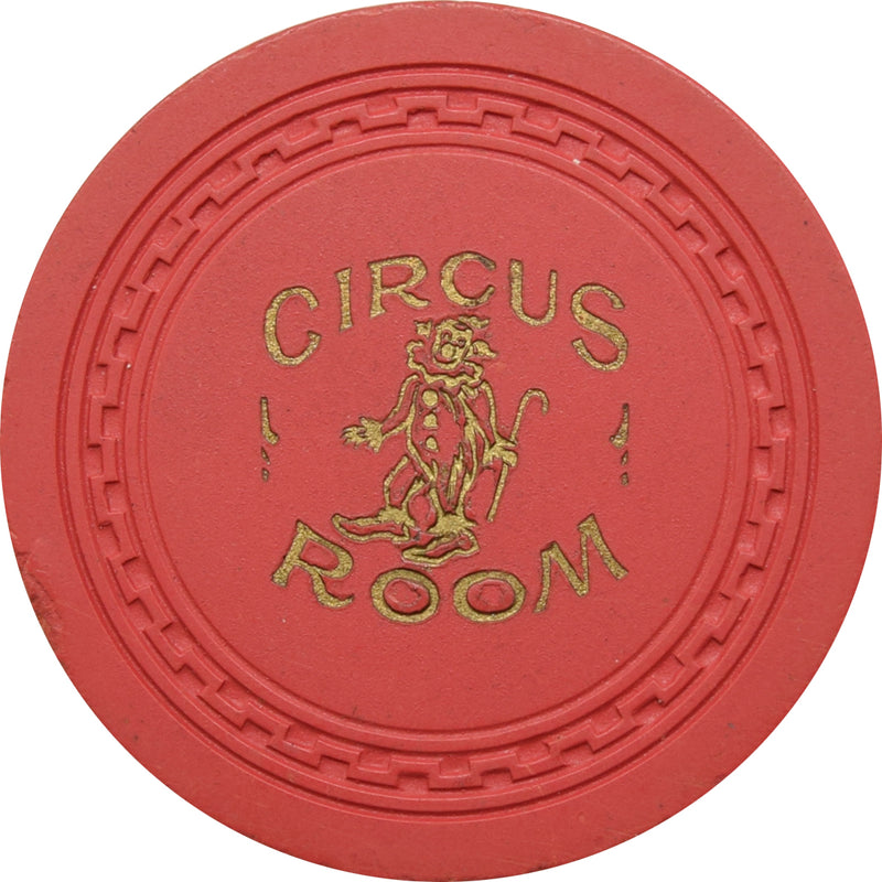 Circus Room Casino Lake Tahoe NV $5 Chip 1952