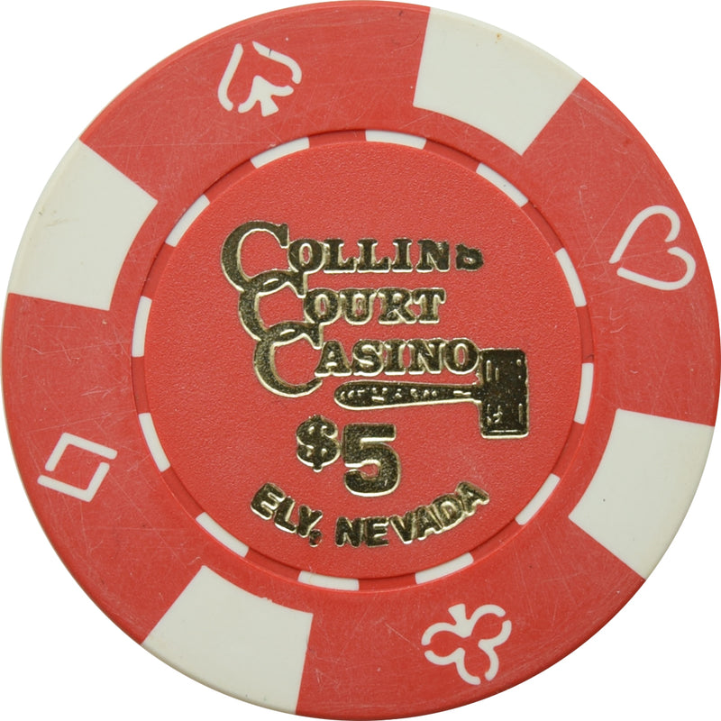 Collins Court Casino Ely NV $5 Chip 1992