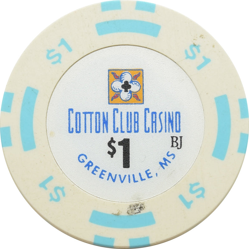 Cotton Club Casino Greenville MS $1 Chip