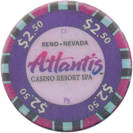 Atlantis Casino Reno NV $2.50 Chip 2012