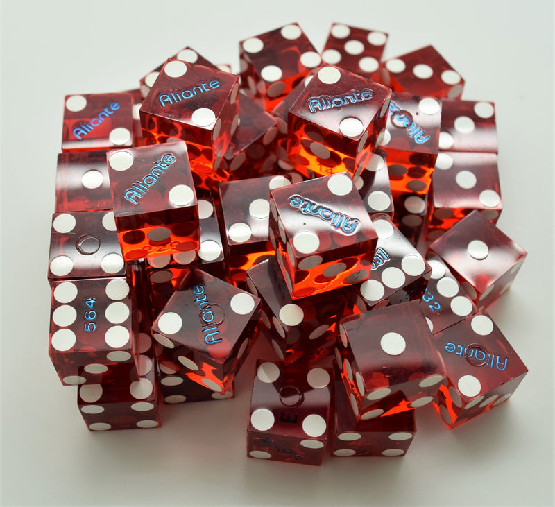 Bulk Dice 50 Used Dice From The Aliante Casino in Las Vegas Nevada