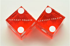 Caesars Palace Casino Las Vegas Used Pair of Dice Matching Numbers