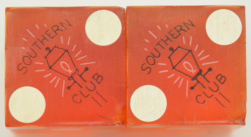 Southern Club Illegal Casino Dice Hot Springs Arkansas (Black Foil)