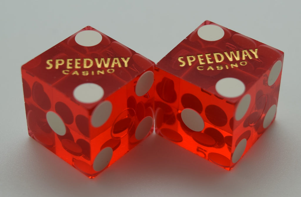 Pair of Used Dice Speedway Casino Las Vegas Nevada Matching Numbers