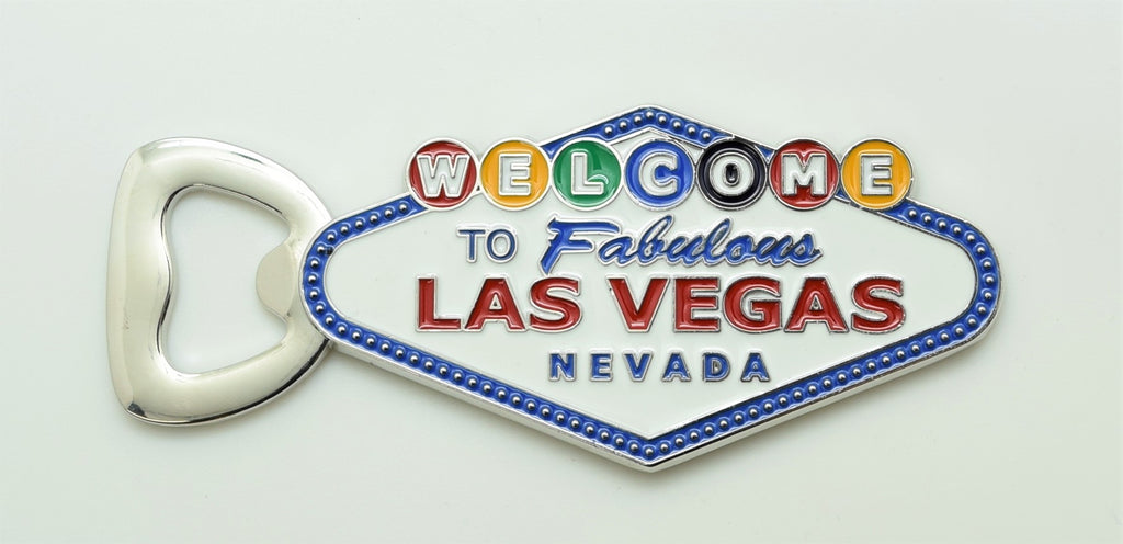 Las Vegas Sign Bottle Opener With Magnets