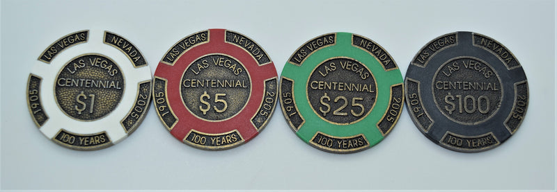Centennial Chips Collector Set 4 Chips