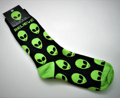 Alien Design Long Novelty Socks Adult Size 9-11