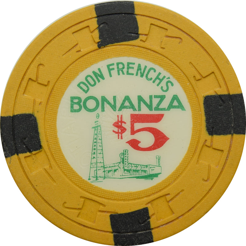 Bonanza (Don French's) Casino N. Las Vegas NV $5 Chip 1963