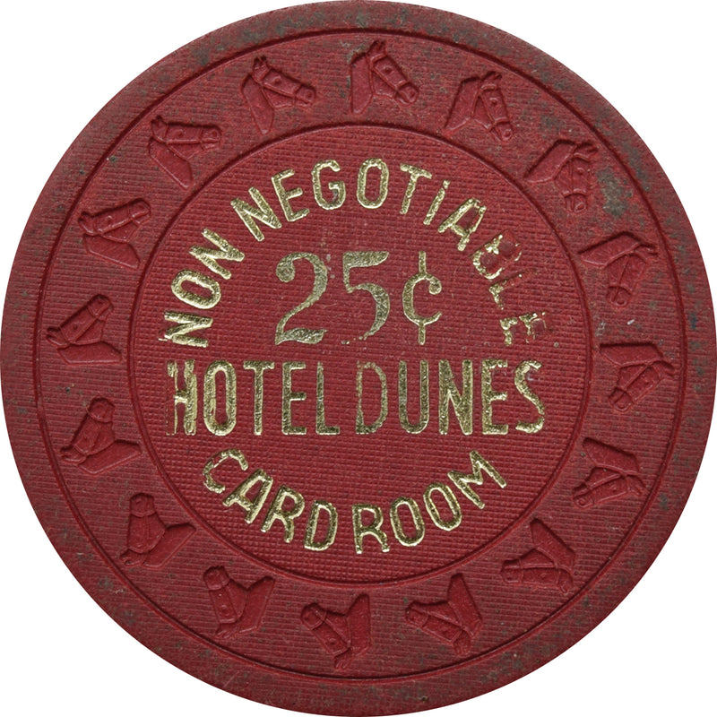 Dunes Casino Las Vegas 25 Cent Non-Negotiable Card Room Chip 1970s