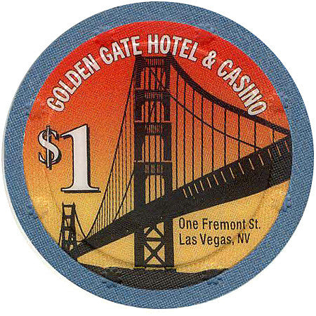 Golden Gate $1 (Blue, Sun Mold) chip - Spinettis Gaming - 2