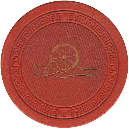 Harvey's Casino Lake Tahoe NV (Wheel & Small Key) Red Chip 1940s