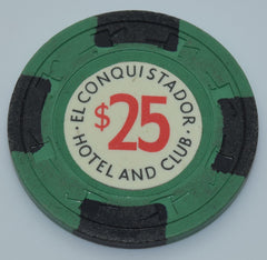El Conquistador Hotel and Club Puerto Rico $25 Chip With Black Edge Spots