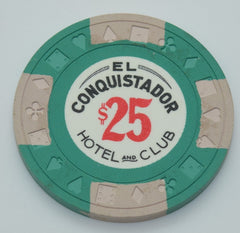 El Conquistador Hotel and Club Puerto Rico $25 Chip With Beige Edge Spots