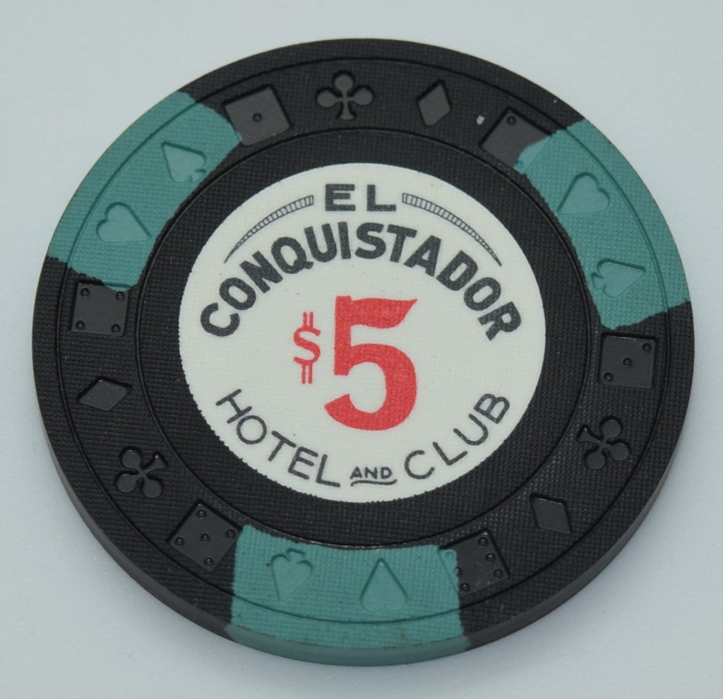 El Conquistador Hotel and Club Puerto Rico $5 Chip Black