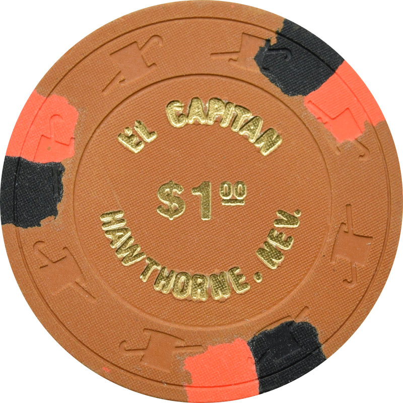 El Capitan Casino Hawthorne NV $1 Chip 1980s