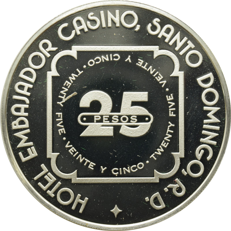 El Embajador Casino Santo Domingo Dominican Republic 25 Pesos Token