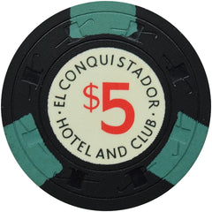 El Conquistador Hotel and Club Puerto Rico $5 Chip Black C&J
