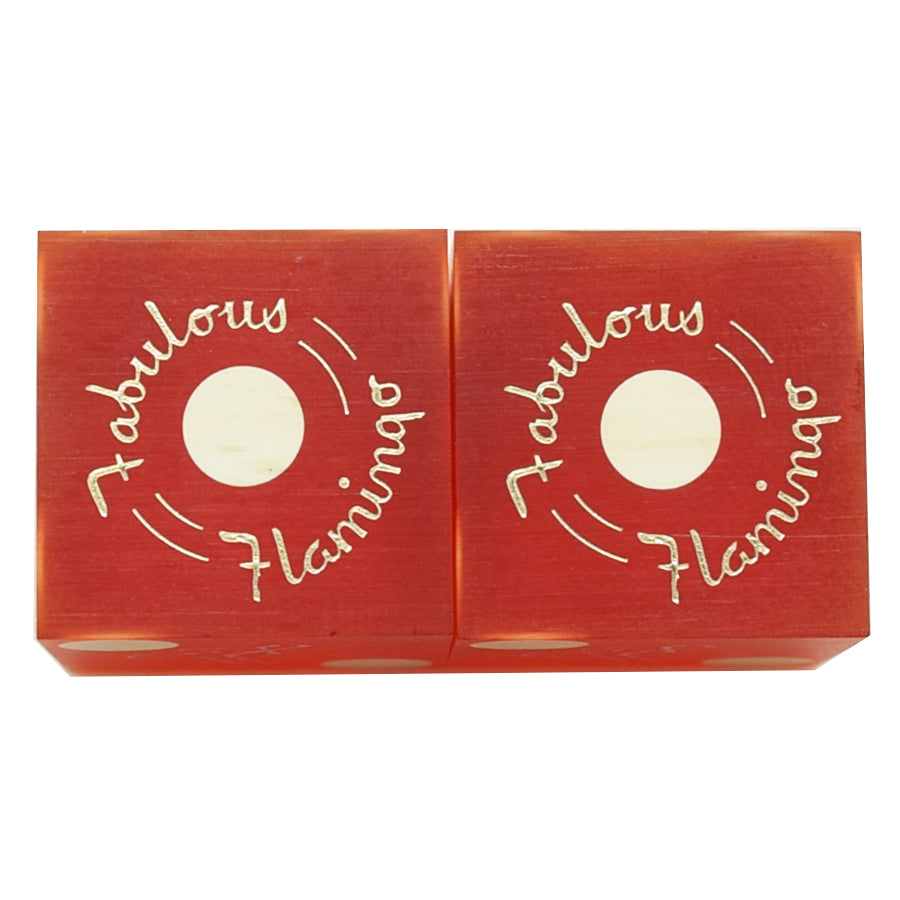 "Flamingo Casino Las Vegas 1960s Pair of Dice ""Fabulous Flamingo"""