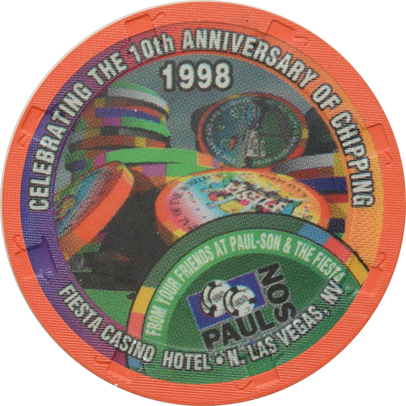 Fiesta Casino North Las Vegas 10th Anniversary of Chipping Chip 1998