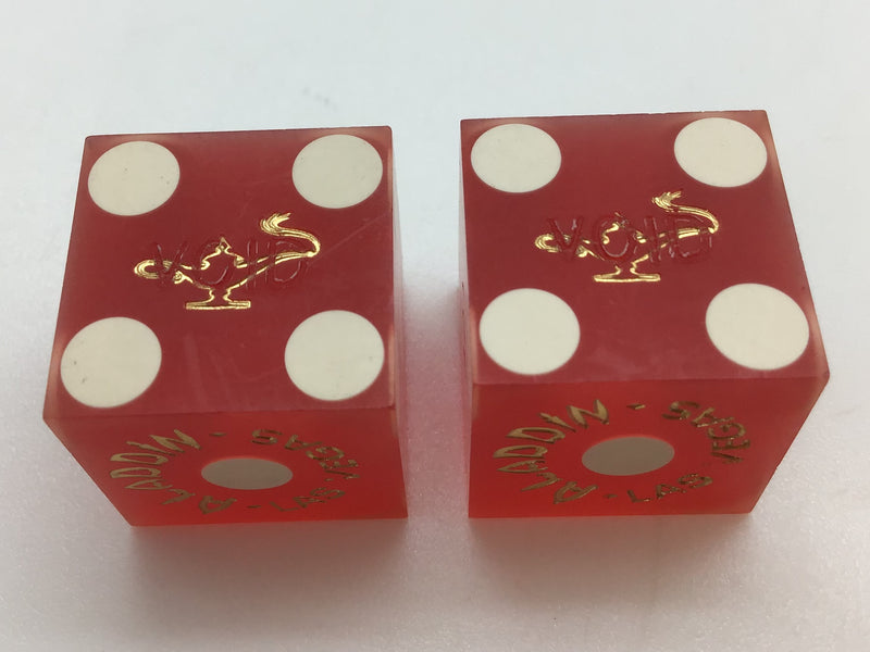 Aladdin Las Vegas Casino Dice Pair Collectible Vintage