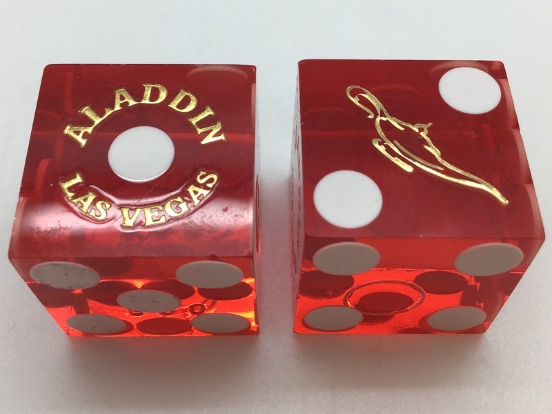 Aladdin Hotel Las Vegas Red Dice Pair Matching Numbers