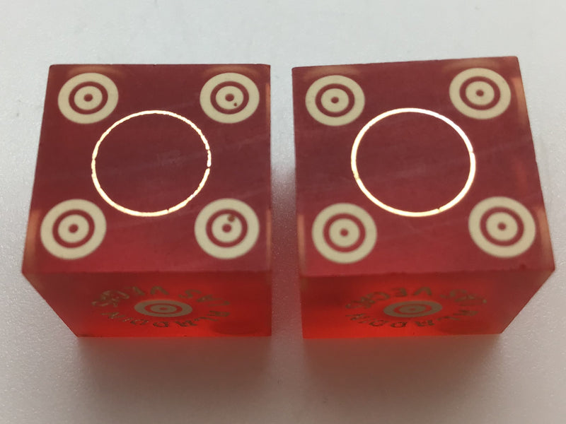 Aladdin Hotel Las Vegas Red Dice Pair Marked
