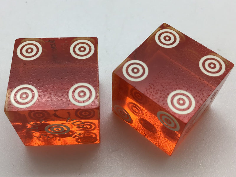 Oliver's Castaways Casino Las Vegas Orange Dice Pair