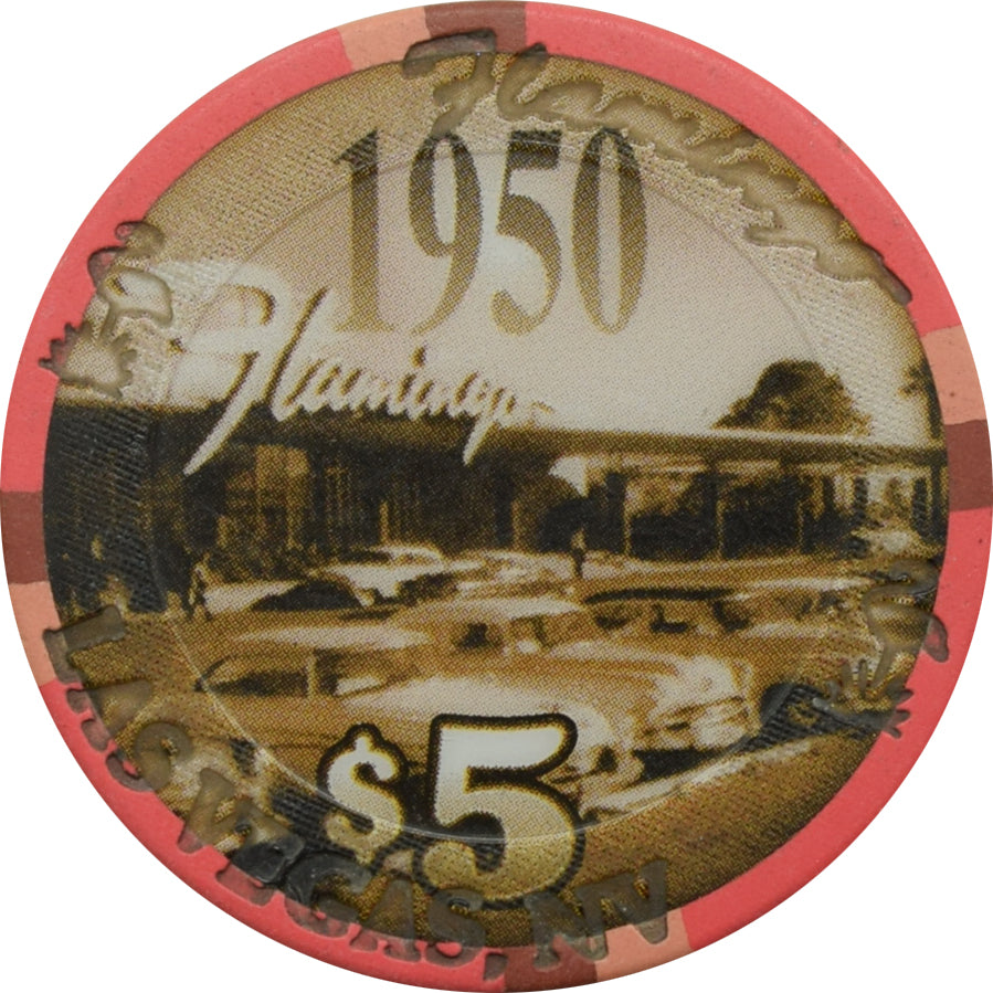 Flamingo Casino Las Vegas 1950 Decade $5 Chip 2003