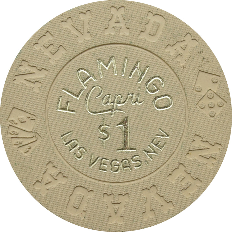 Flamingo Capri Casino Las Vegas $1 Chip 1970s