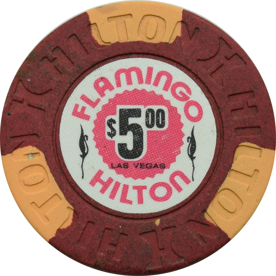 Flamingo Hilton Casino Las Vegas $5 Chip 1977