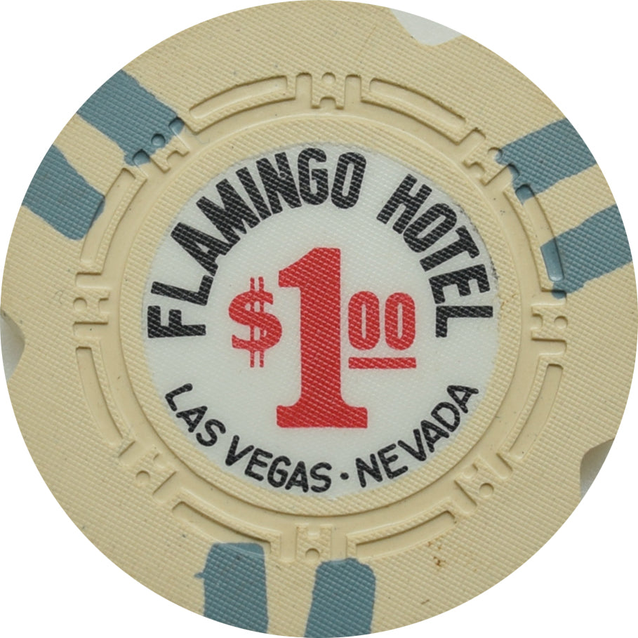 Flamingo Casino Las Vegas $1 Cancelled Chip 1964