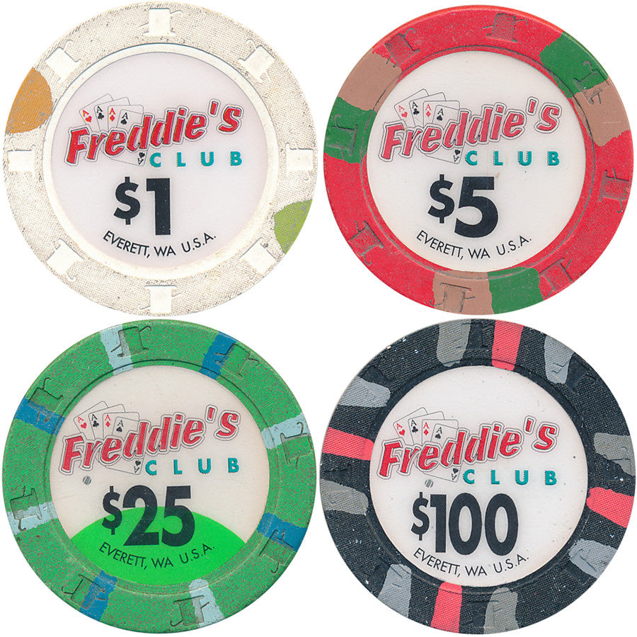 Freddie's Club Casino Set of 100 Paulson Chips