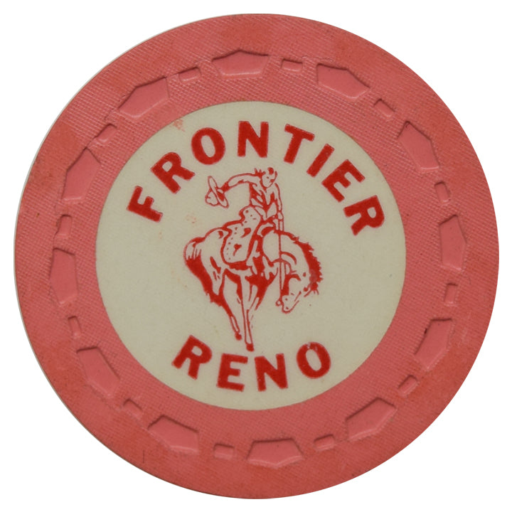 Frontier Club Casino Reno NV Pink Roulette Chip 1954