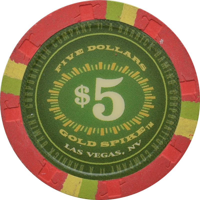 Gold Spike Casino Las Vegas NV $5 Chip 2004