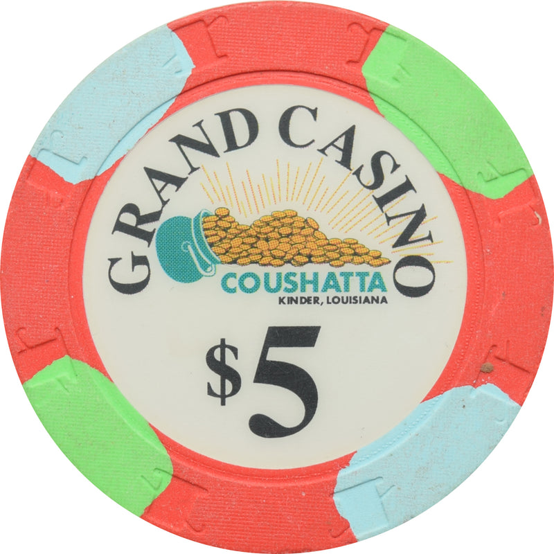 Grand Casino Coushatta Kinder LA $5 Chip