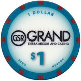 Grand Sierra, Reno NV $1 Casino Chip #2 - Spinettis Gaming - 2