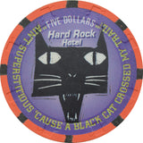 Hard Rock Casino Las Vegas NV $5 Halloween Chip 1996