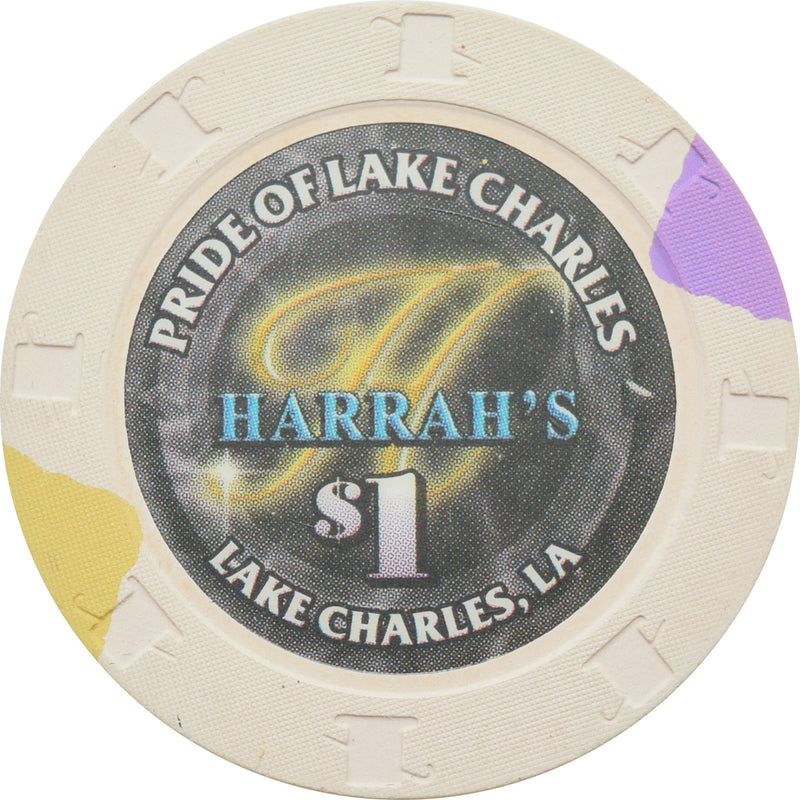 Harrah's Pride Casino Lake Charles LA $1 Chip