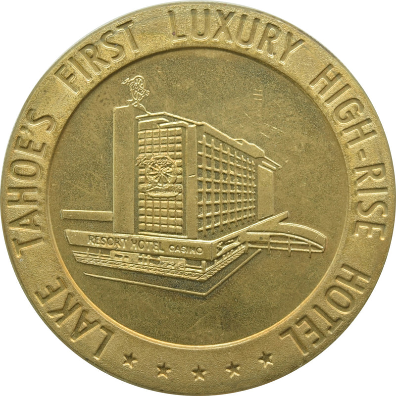 Harvey's Casino Lake Tahoe NV $1 Brass Token 1966