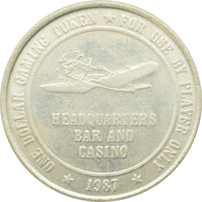 Headquarters Casino Fallon NV $1 Token 1987