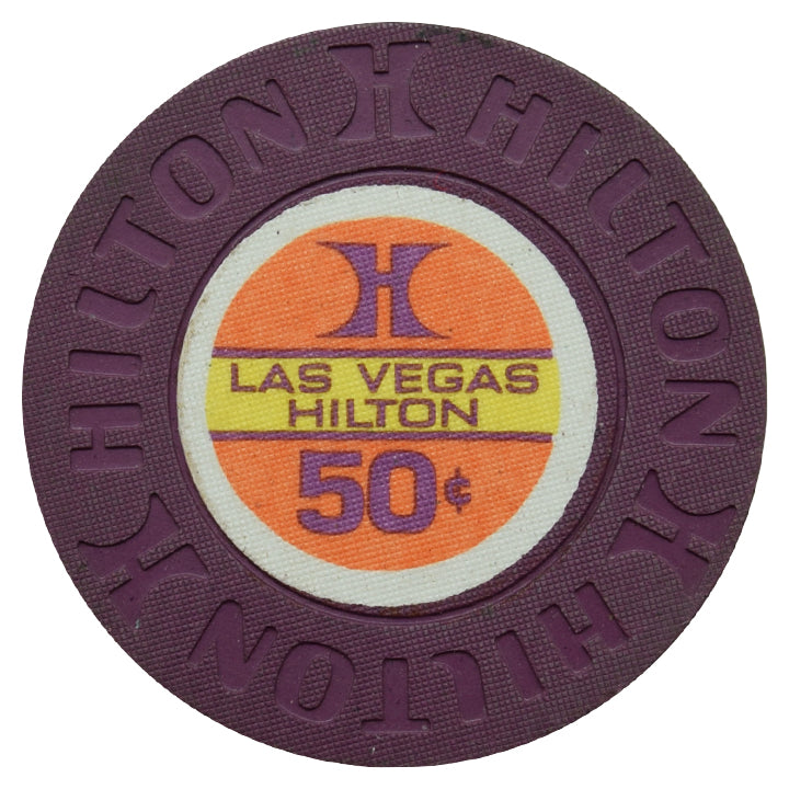 Las Vegas Hilton Casino 50 Cent Chip 1975