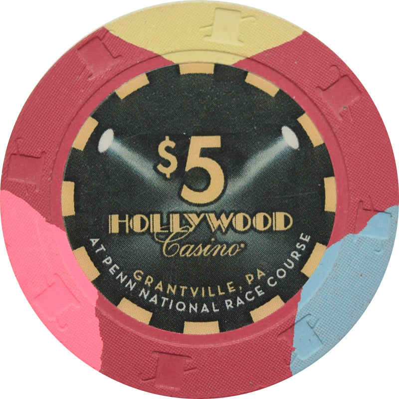 Hollywood Casino Grantville PA $5 Chip