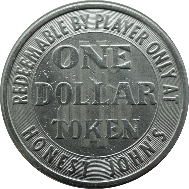 Honest John's Casino Las Vegas NV $1 Token 1965