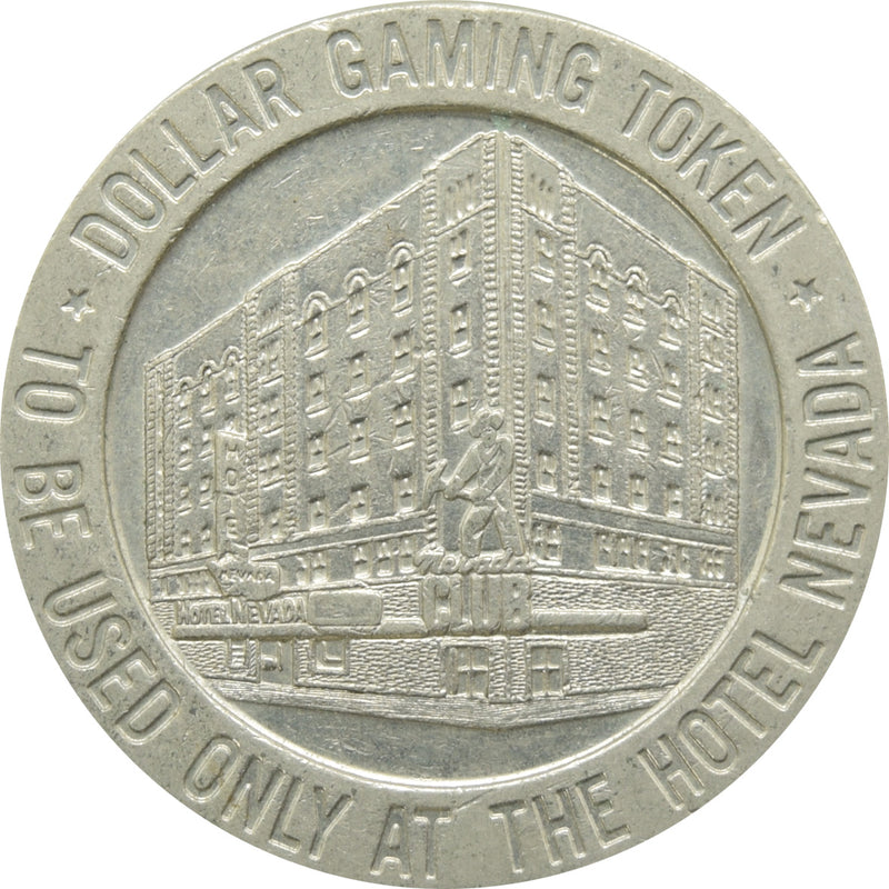 Hotel Nevada Casino Ely NV $1 Token 1966
