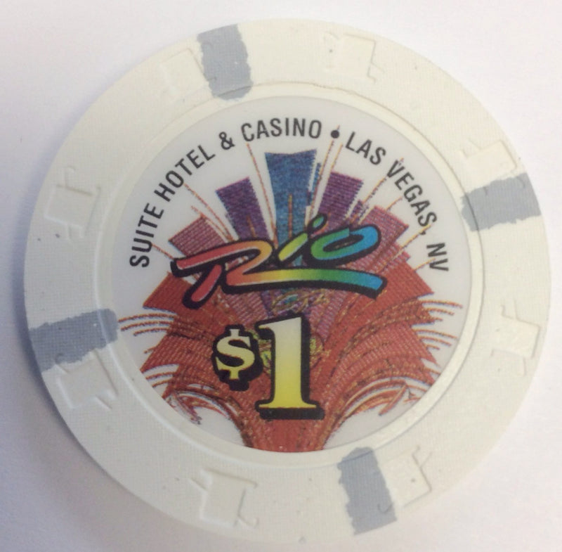 Rio Casino Las Vegas NV $1 Chip 1997 Large Inlay
